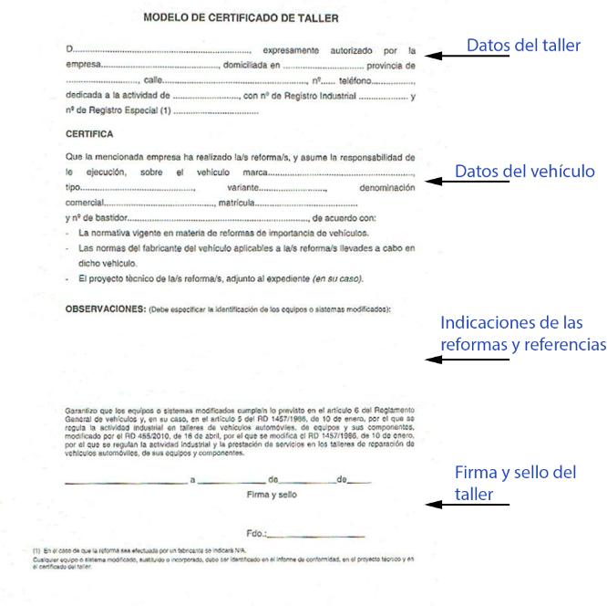 certificado de taller